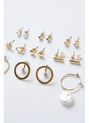 Penti Gold Pearl Küpe Set Ten